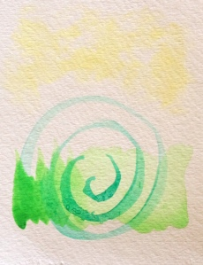 Learning various brush strokes and varying amounts of water. I like the simplicity of this.