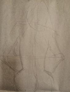 Gesture drawings using 1-2 minute poses.