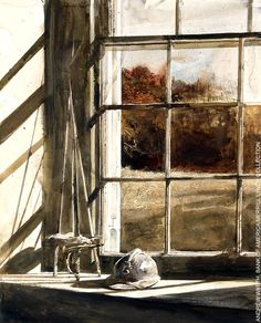 Example of an Andrew Wyeth watercolor similar to one that I sketched.
