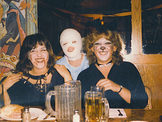 Halloween 1984 with older friends not in my class.