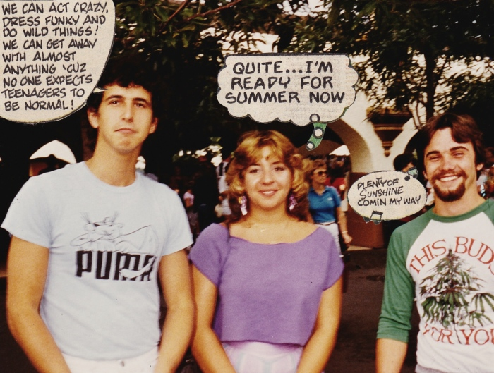 Kings Dominion 1984 with two older friends not in my class.