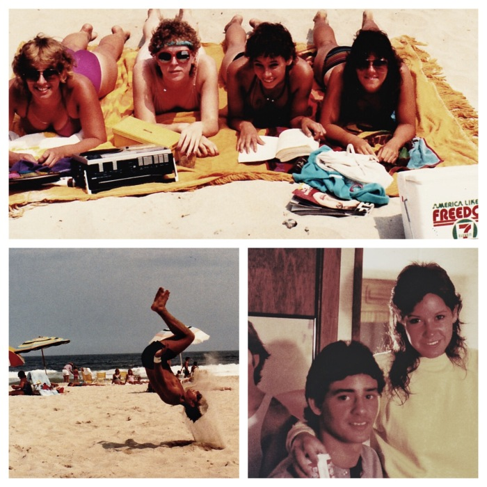 Ocean City 1984 - summer before my senior year - including a few people we just met that day and my friend, Janette, who had already graduated.